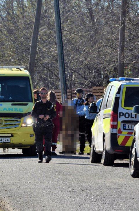 POLITIAKSJON I APRIL: Da 45-åringen ble pågrepet i april, deltok 15 politibetjenter i den væpnede aksjonen. Arkivfoto