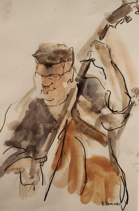 TEIKNINGAR: Svanøe teiknar med blyant, penn og akvarell.  FOTO: Privat