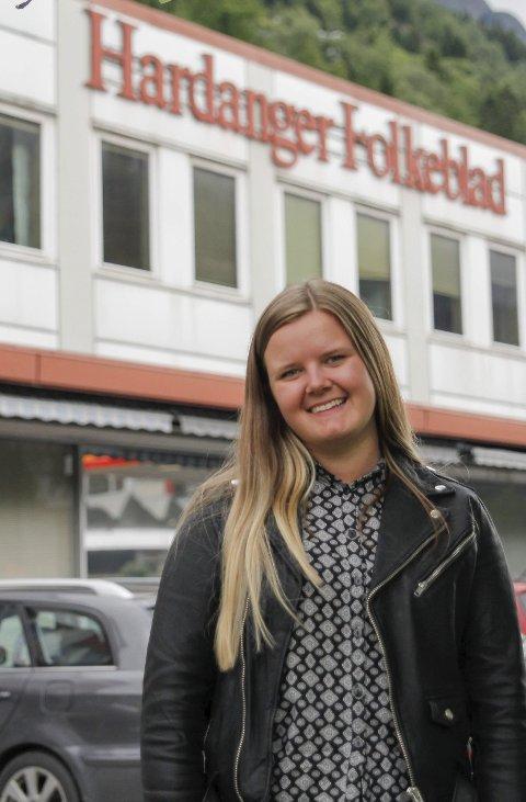 Sommarjobb: Eirin Tjoflot er også i år sommarvikar i Hardanger Folkeblad.