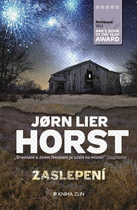 Norsk krim på tjekkisk: Tvedestrandsposten blir sitert på omslaget når Jørn Lier Horsts roman «Blindgang» utgis på tsjekkisk.