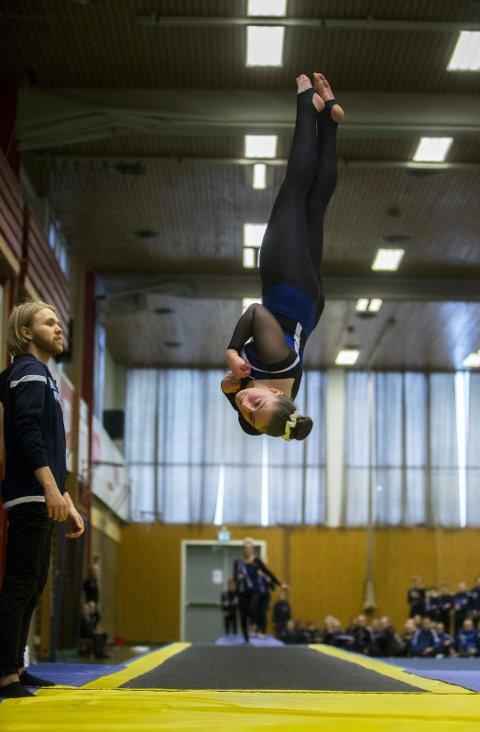 SVEVER HØYT: Thorkatla Gydja Armannsdottir. FOTO: GRETHE NYGAARD