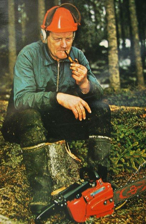 Når han ikke skrev dikt arbeidet Hans Børli i skogene - akkurat som menneskene han skrev om.