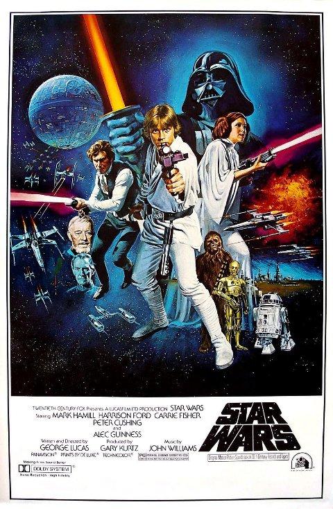 ORIGINALEN: Den første Star Wars-filmen kom i 1977.