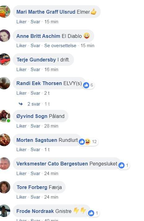 FORSLAG: Skjermbilde fra Facebook.