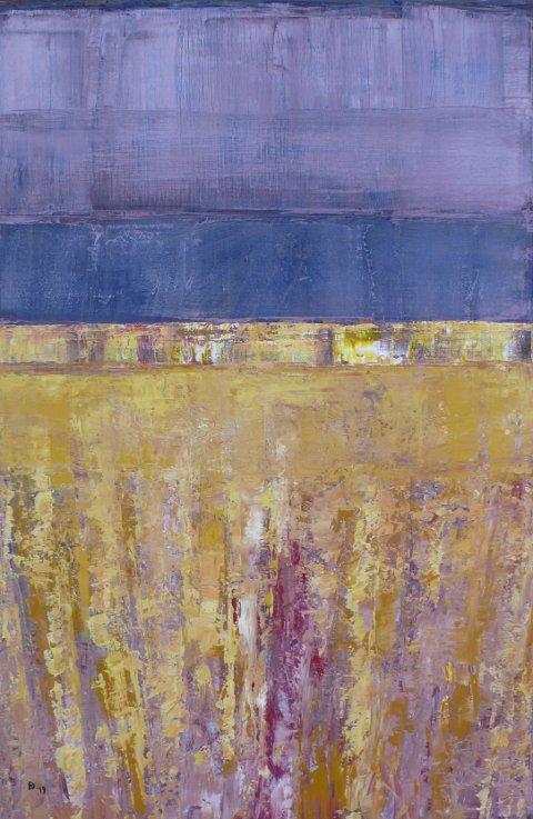 """Et av maleriene som Dag Ronny Pettersen stiller ut under """"Ingenmannsland"""" i galleri A i Oslo."""
