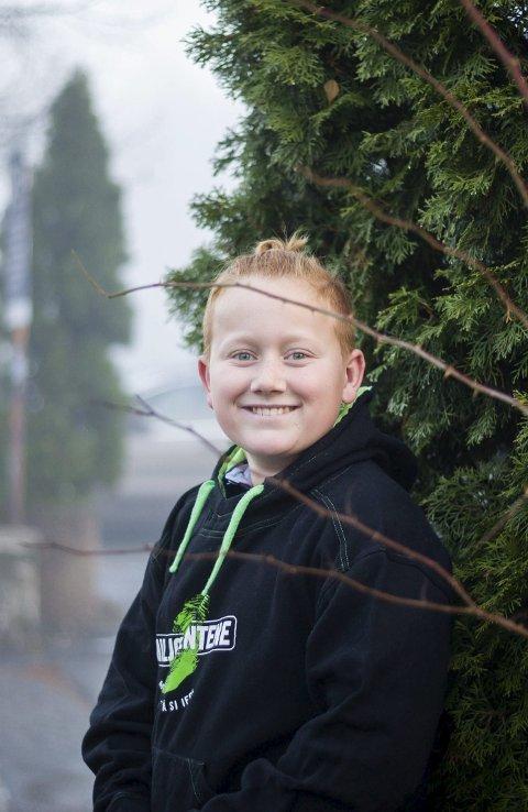 ENGASJERT: Victor Larsen Steenberg fra Kolbotn er en klimabevisst 13-åring. FOTO: EIRIK LØKKEMOEN BJERKLUND