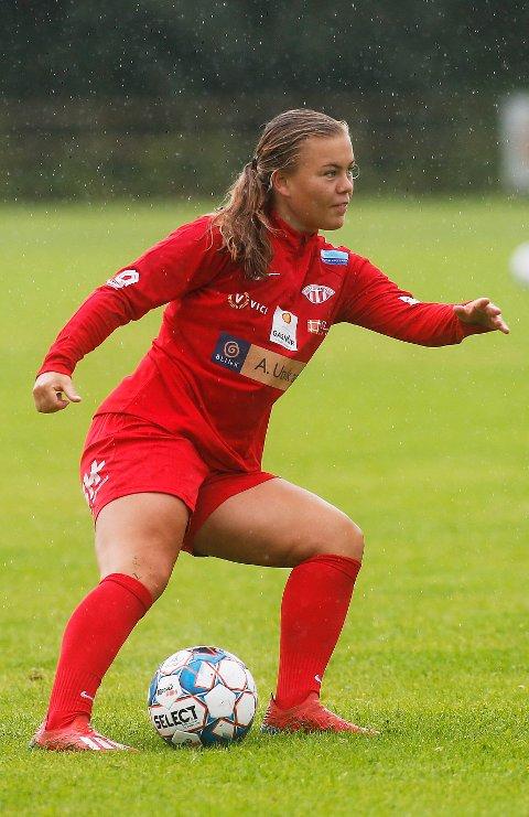 EN AV TRE: Olaug Tvedten  satte inn 2-0-målet i Avaldsnes tremålsseier hjemme mot Klepp.
