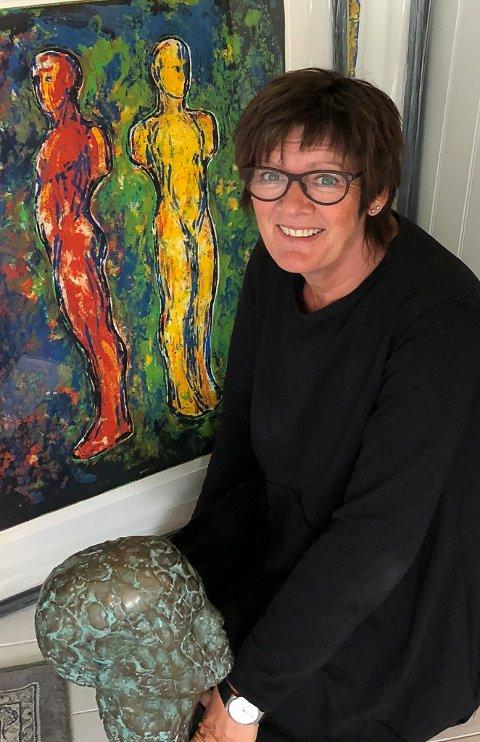 Reidun Øvrebotten gler seg over å presentere arbeid av Nico Wiederberg.
