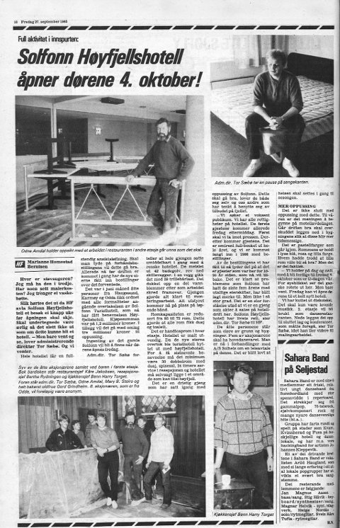 Faksimile: Hardanger Folkeblad 27. september 1985.