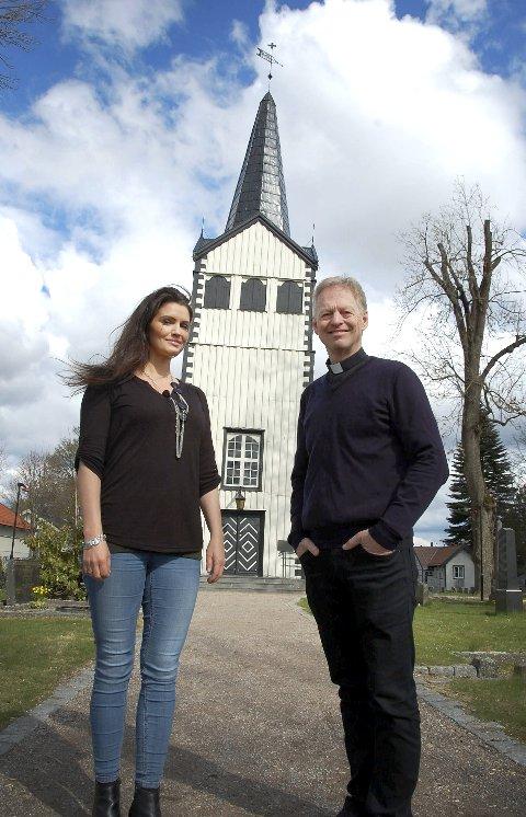 Uenige: Sokneprestene Synnøve Skree Skjeldal og Ivar Brobakken i Porsgrunn menighet er uenige om vielse av likekjønnede.