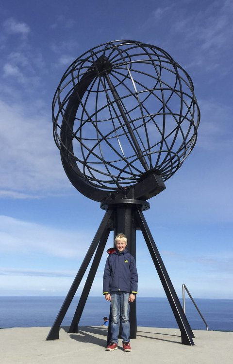 Fornøyd: Henrik var veldig glad for langtur til Nordkapp.