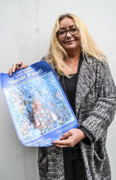 Impresjonist: Fra lørdag og til 2. påskedag stiller ut Heidi Fosli ut impresjonistiske bilder i Hotell Wassilioff i Stavern. Dette blir hennes sjette utstilling for året. Foto: Paal E. Nygaard