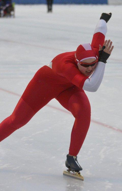 START: Skøyteløper Guro Bergstrøm fra Jevnaker er godt i gang med sesongen.