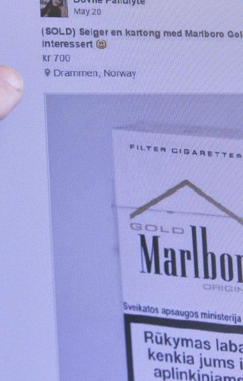 SALG: Smuglervarer omsettes på Facebook. Foto: ANB
