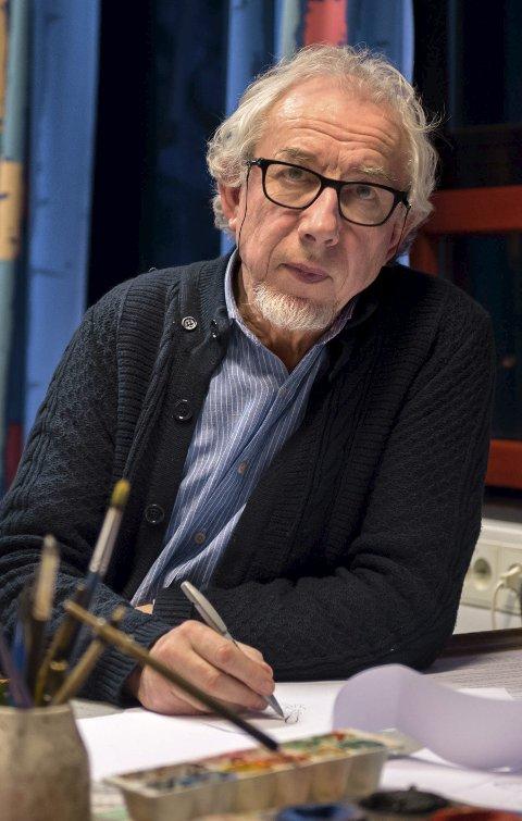 INNHOLDSRIKT ÅR: Herbjørn Skogstad er mannen bak Herb-tegningene, som har skapt flere reaksjoner i 2017.