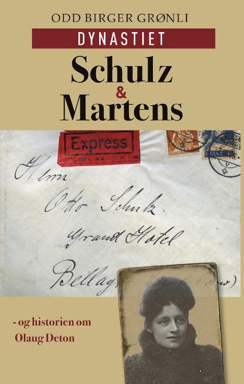 Slik ser den ut - den lokalhistoriske boka om familiene Martens og Schulz - og historien om Olaug Deton. Den vil være i salg fra 9. august.