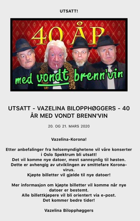 Denne e-posten gikk ut fra Oslo spektrum onsdag 11. mars.