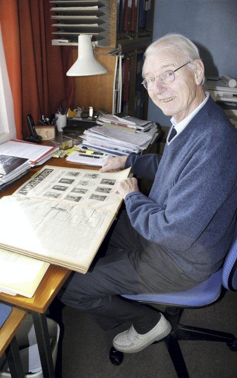 FORMIDLET LOKALHISTORIE: Gunnar Pedersen var en unik formilder av lokalhistorie fra vårt distrikt, med spalten «Aktuell historie» i Nordstrands Blad, fra 2001 til 2013. Historier herfra ble samlet i seks bind i serien «Aktuell historie», et verk han var stolt av. Arkivfoto