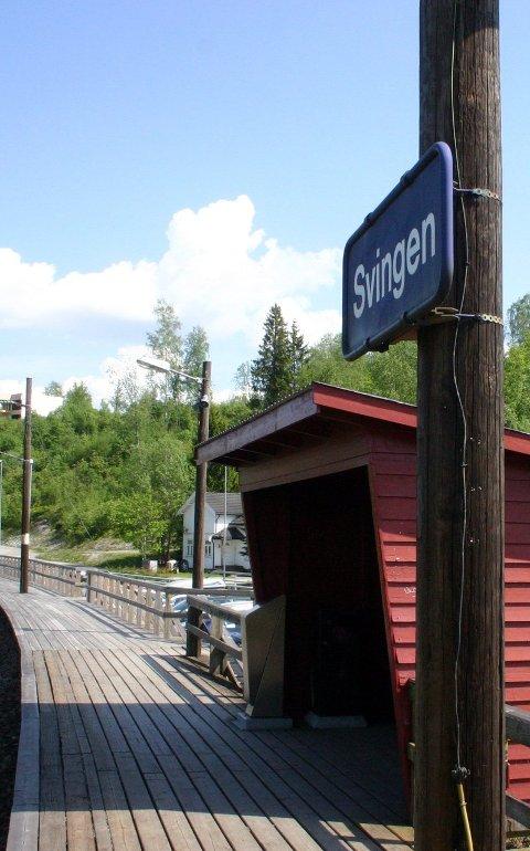 TRUET: Svingen stasjon i Fet.