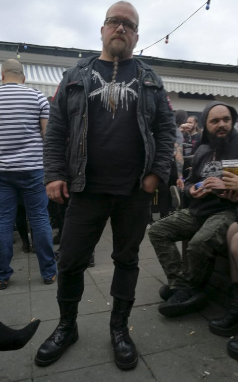 Svart påske: Nok en påske ble viet til black metal og kunst for Tor Baklund. Han brenner like mye for begge deler og har hatt rollen som kurator de fire siste årene. Foto: Nils Gjerstad