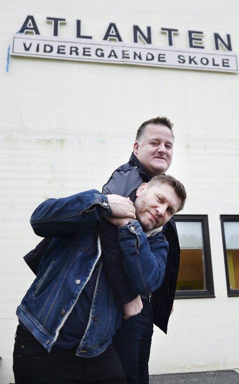 Vil ta grep: Brytetrener Eren Gjægtvik (foran) og rektor Trond Hjelle jobber for at Atlanten videregående skole skal få ei landslinje for bryting.