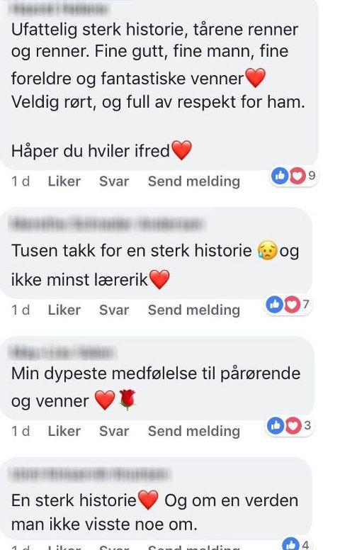 GODE TILBAKEMELDINGER: Facebook er oversvømmet av positive kommentarer under lenken til saken. Foto: Skjermdump/Facebook