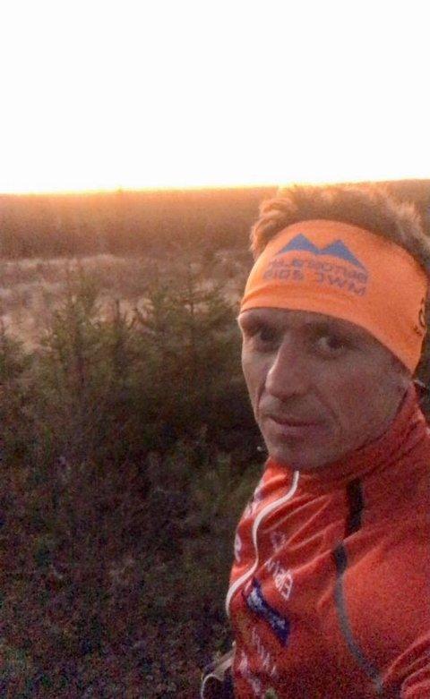 FIRE LYSENDE ØYNE: Kjetil Finstad og joggekompisene hans møtte ulv i Svartholtet sist tirsdag.