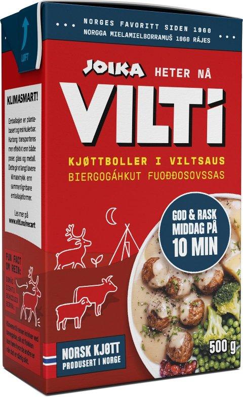 NYTT NAVN: Klassikeren Joika endrer navn til VILTi