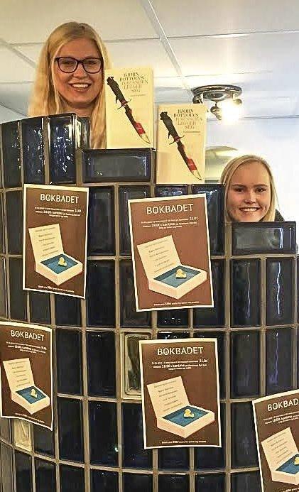 FORBEREDELSER: Magnhild Sandsbråten Solum og Anita Vinnord vil gjøre bokbadet kjent.
