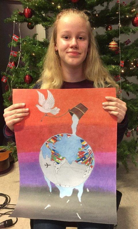 STOLT: Tine Stenberg Nordseth er landets beste fredstegner i 2017.