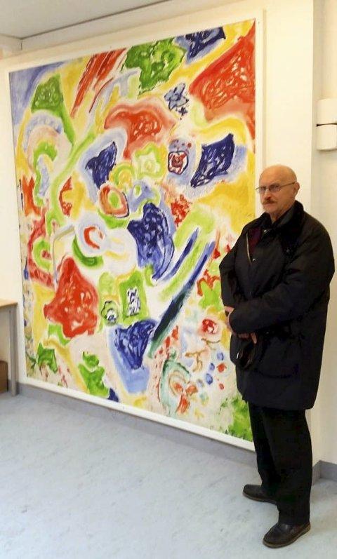 PAHR IVERSEN: Kjell Pahr Iversen skal stille ut malerier i Fitjar.