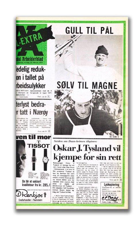 Pål Tyldum ble kåret av en jury i NA som den største idrettsstjerna i Namdalen. Han har en rekke internasjonale topplasseringer og kronet det med OL-gull i Sapporo i 1972. Han har mottatt en rekke priser som Fearnleys olympiske ærespris (1972), Holmenkollmedaljen (1970), og Olavstatuetten (1972). Nå er det vel på tide å få Pål på sokkel?