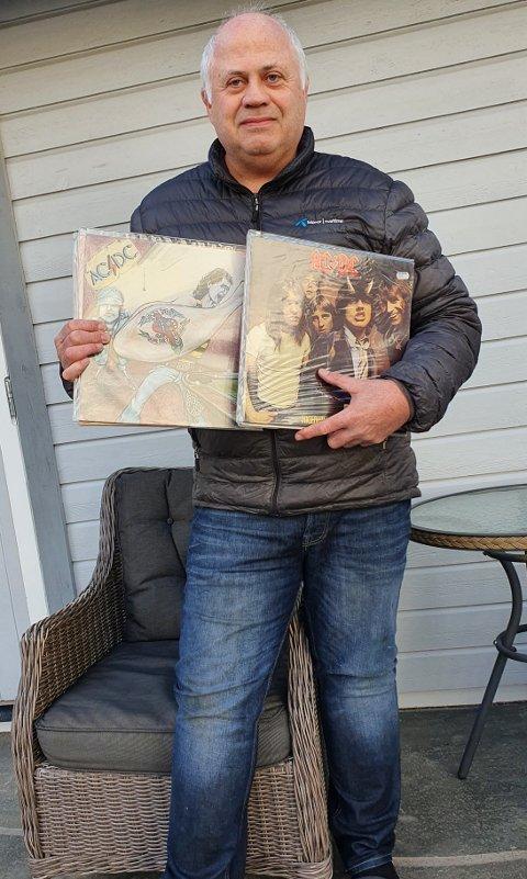 AC/DC STØRST: Jan Peter Wiborgs første konsert var med The Kids på Reehaug da han var 12 år gammel. favorittbandet AC/DC har aldri spilt i Levanger, men han har vært på flere konserter med dem andre steder.