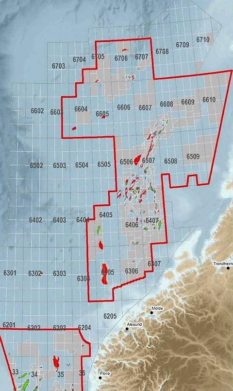 Det foregår et stort press om å utvide leting i nord i Norskehavet og Barentshavet. ILLUSTRASJON: OLJEDIREKTORATET