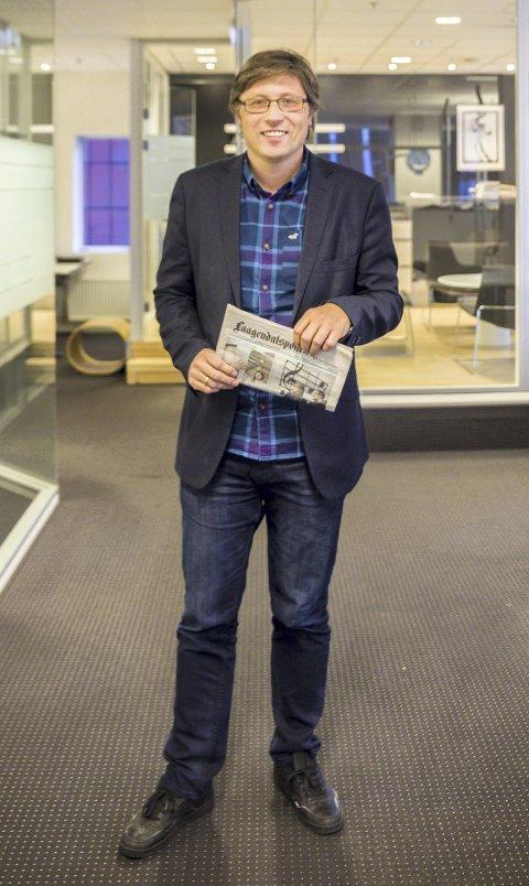 Endringer i leveringen: Ansvarlig redaktør Jørn Steinmoen er spent på den nye leverandøren som skal levere lokalavisen til postkundene utenfor Kongsberg sentrum. Foto: Tor Christian Ødegaard