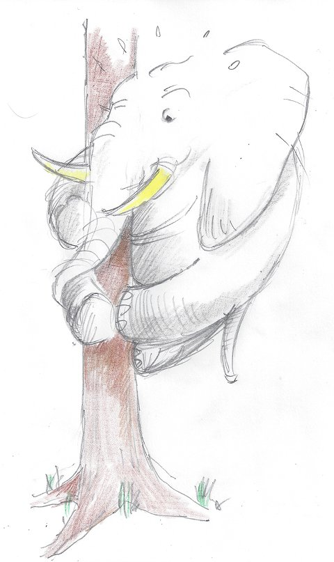 Jeg har skylden, og må ta smerten ved å stå skolerett og forsøke å forklare min åpenbare misere. Som om en elefant skal behøve å forklare at han ikke kan klatre i trær.
