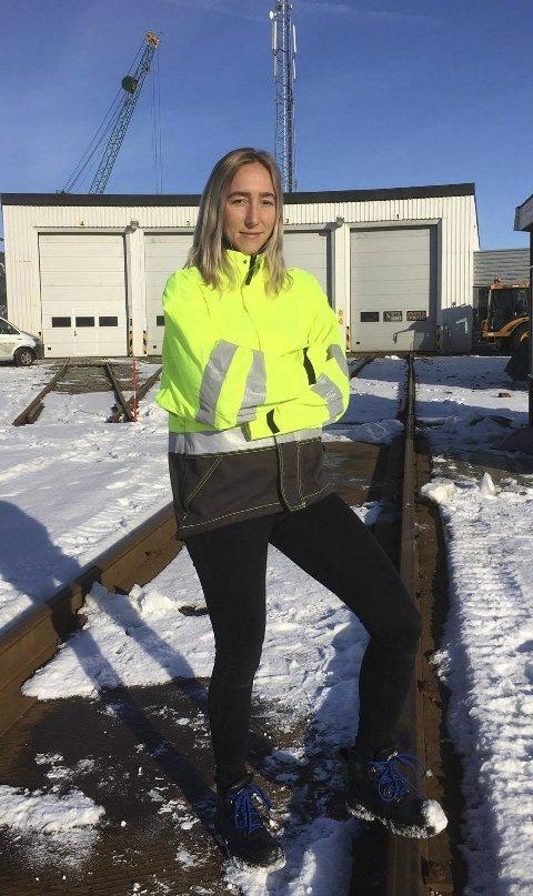 JOBB: Astri Maren Midtgarden jobber i dag som ingeniør i Bane NOR.