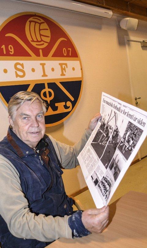 Gode minner: – Det er trolig at det har gått femti år siden vi tok det aller første cupgullet., sier Thorodd Presberg.