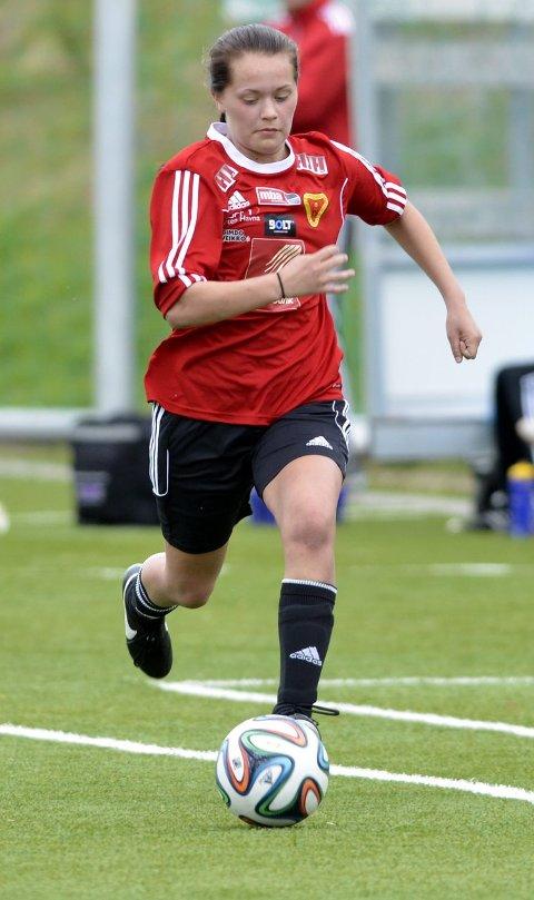 Ingrid Altermark spilte for Bossmo & Ytteren i vårsesongen. Nå er hun i Toppserien og spilte sin tredje kamp for sin nye klubb i dag. Foto: Gøran Opanashchuk
