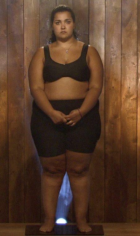 FORVANDLINGEN: Romina Dehzani (27) startet på 140,4 kilo og endte på drøye 79 kilo. I dag har hun gått opp noen kilo.Foto: TVNorge/Privat