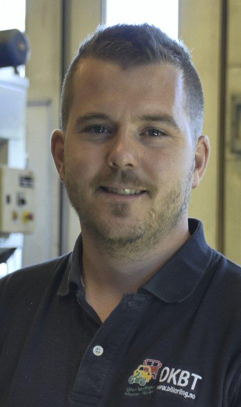 Fornøyd: Jim Nybø er daglig leder av Opplæringskontoret for Bil- og Transportfag for Vestoppland.
