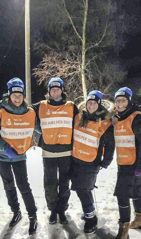 Styret: Tove Husby (t.v.), Siri Stokke, Karin Skar og Marit Kleven Holmeide. Sunniva Torjul var ikke til stede da bildet ble tatt.Foto: Privat