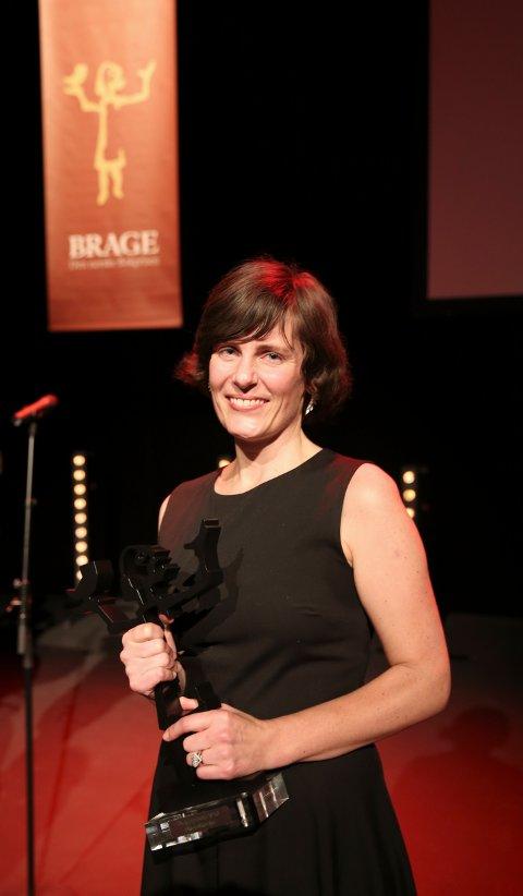 Monica Isakstuen fikk prisen i klassen skjønnlitteratur under årets Brageprisutdeling, men kom ikke videre i P2 lytternes kåring av årets roman.