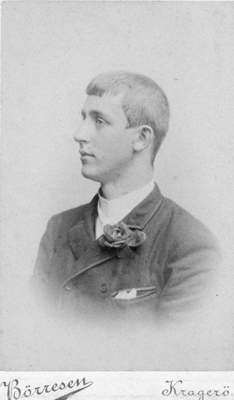 PARKER: Tom Parker arvet 24 000 engelske pund i 1895 (foto Kragerø/Berg museum)