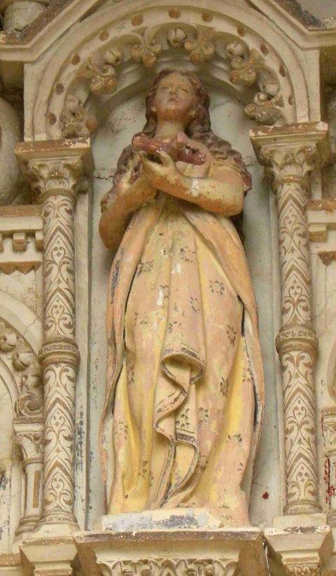 Maria Magdalena: Kirken i Rennes le Chãteau, Frankrike, datert cirka 1880.