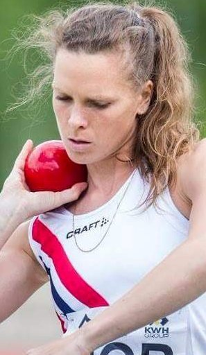 Kula gikk langt: Charlotte Abrahamsen ble nummer sju i europacupen for lag i Finland i helgen, med et kulestøt på 14,71 m. Foto: Eirik Førde