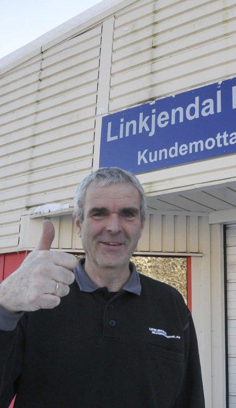Kandidat: Geir Arne Wefald hos Linkjendal Bilforretning er delfinalist i kampen om Sørvisprisen.