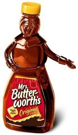 Denne flasken stiller mange spørsmål ved i disse dager - skal hun fremstille en mørkhudet bestemor? Nei, sier merket selv. Foto: Produsenten