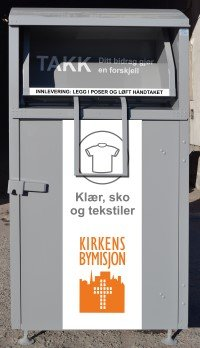 GAMMEL: Denne grå containeren blir byttet ut med en ny i oransje farge.