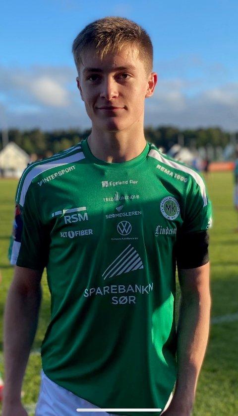 FUNNET SEG TIL RETTE: Sivert Sira Hansen har virkelig funnet seg til rette i den grønne MK-drakten.